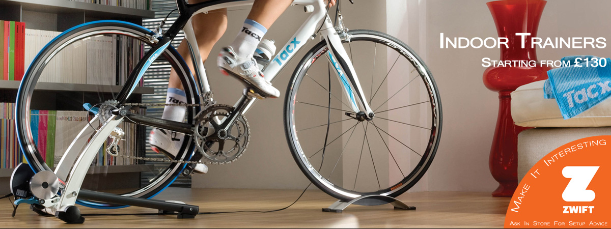 Indoor trainers from Tacx & Minoura
